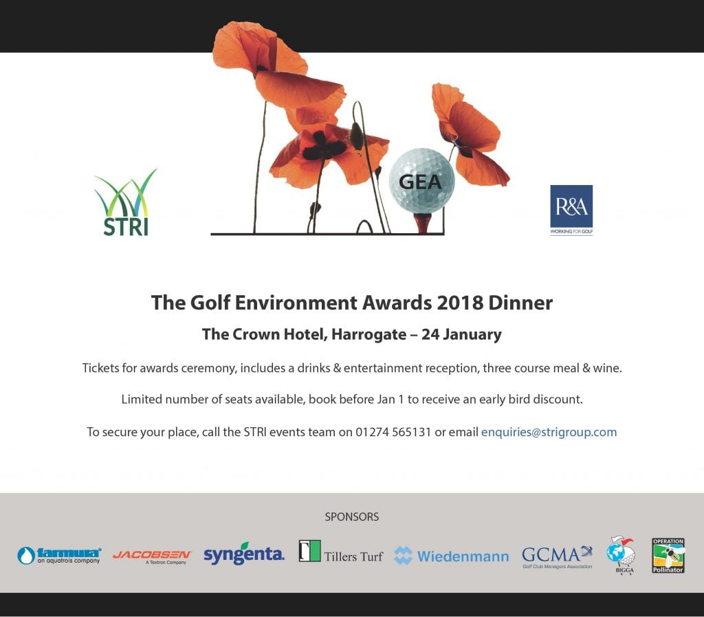 Golf Environment Awards 2018 Dinner