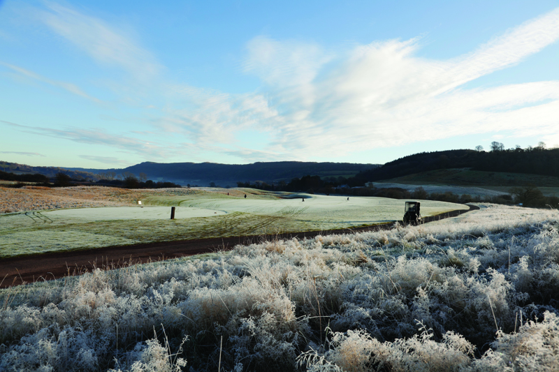 Frosty morning on the golf course